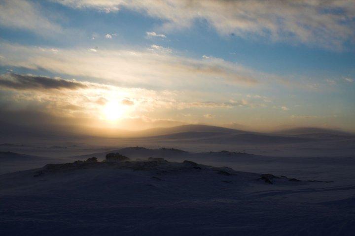 Bild mit Blick von der Saarijärvi Hütte in Kilipsjärvi