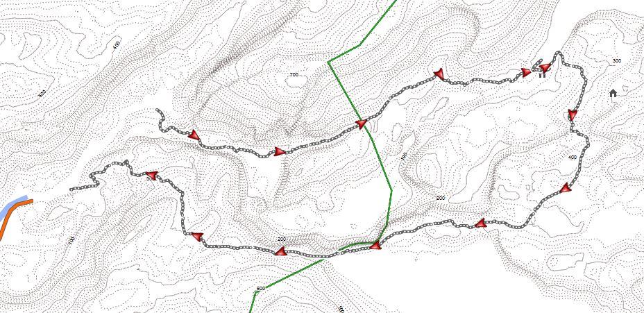Übersichtskarte zur Rundtour im Rago Nationalpark - Karte: Open MTB Map.