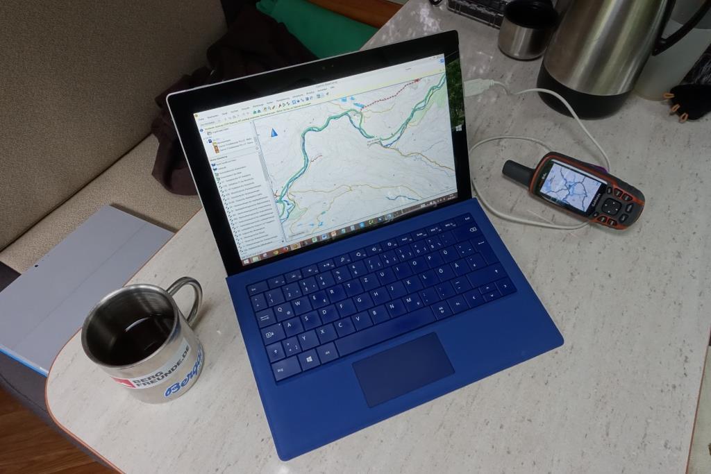 Tourenplanung mit Microsoft Surface Pro 3
