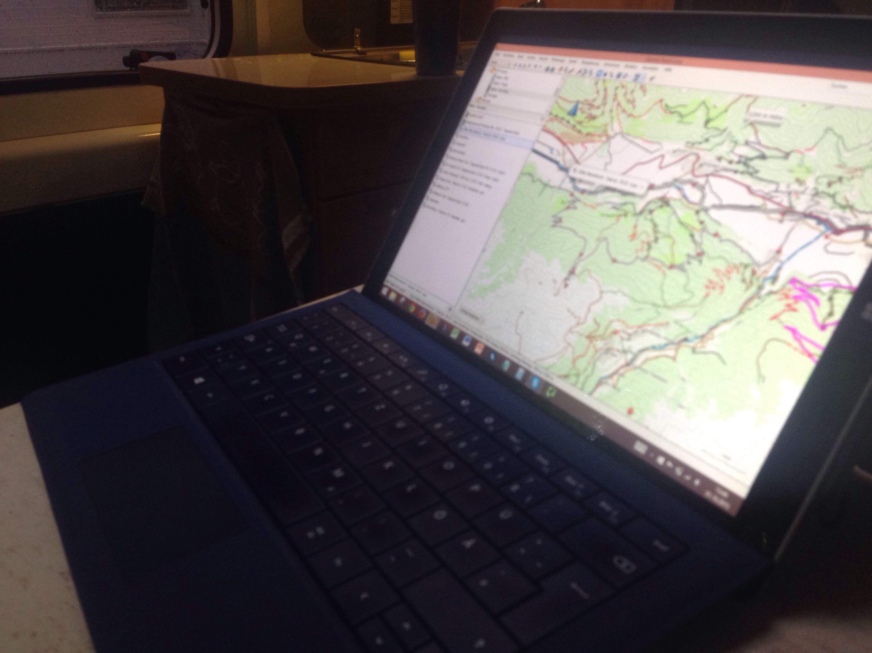 Digitale Tourenplanung am Surface Pro 3 mit Open MTB Map und Garmin Basecamp