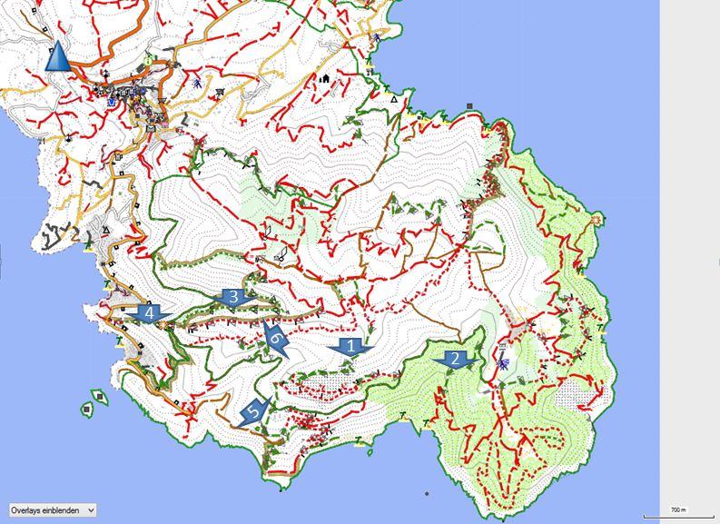 Karte Capoliveri Bikepark by open mtb map www.openmtbmap.org