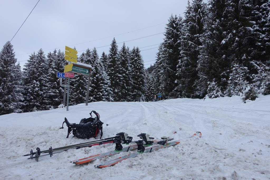 Skitour Start im Salzachtal