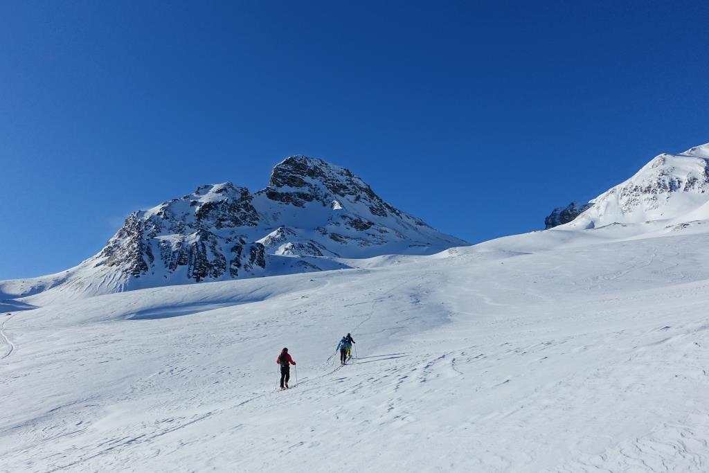 Ferner unterhalb Breite Krone mit Skitourengehern