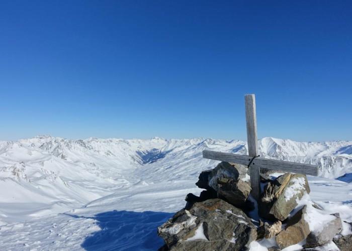 Blick Gipfel Breite Krone nach Norden