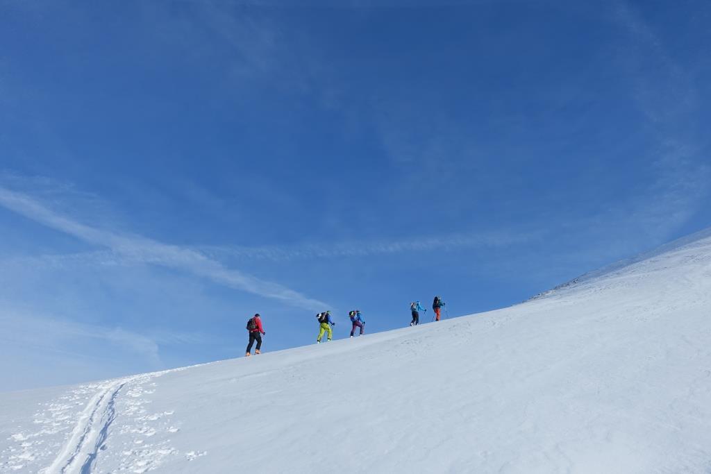 Val Gronda Skitouren Aufstieg