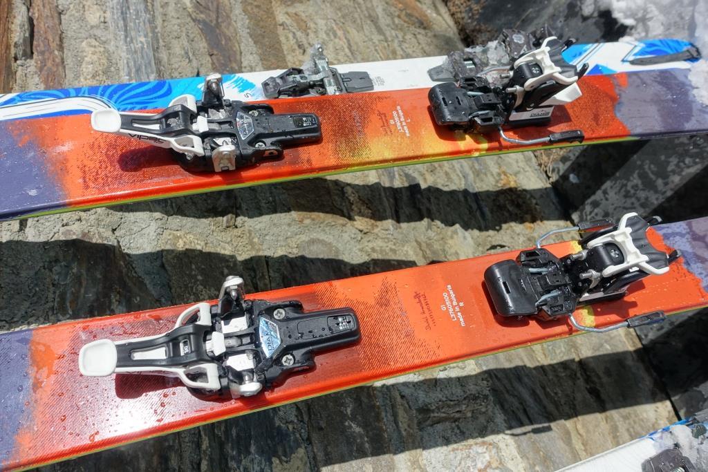 Fritschi Vipec Tourenbindung auf Salomon Q-Lab 98 Freeride-Ski