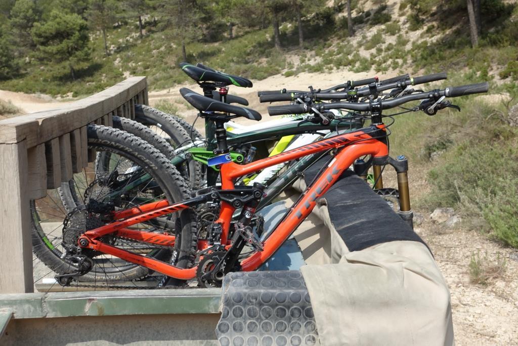 Bikes auf Anhänger La Fenasosa