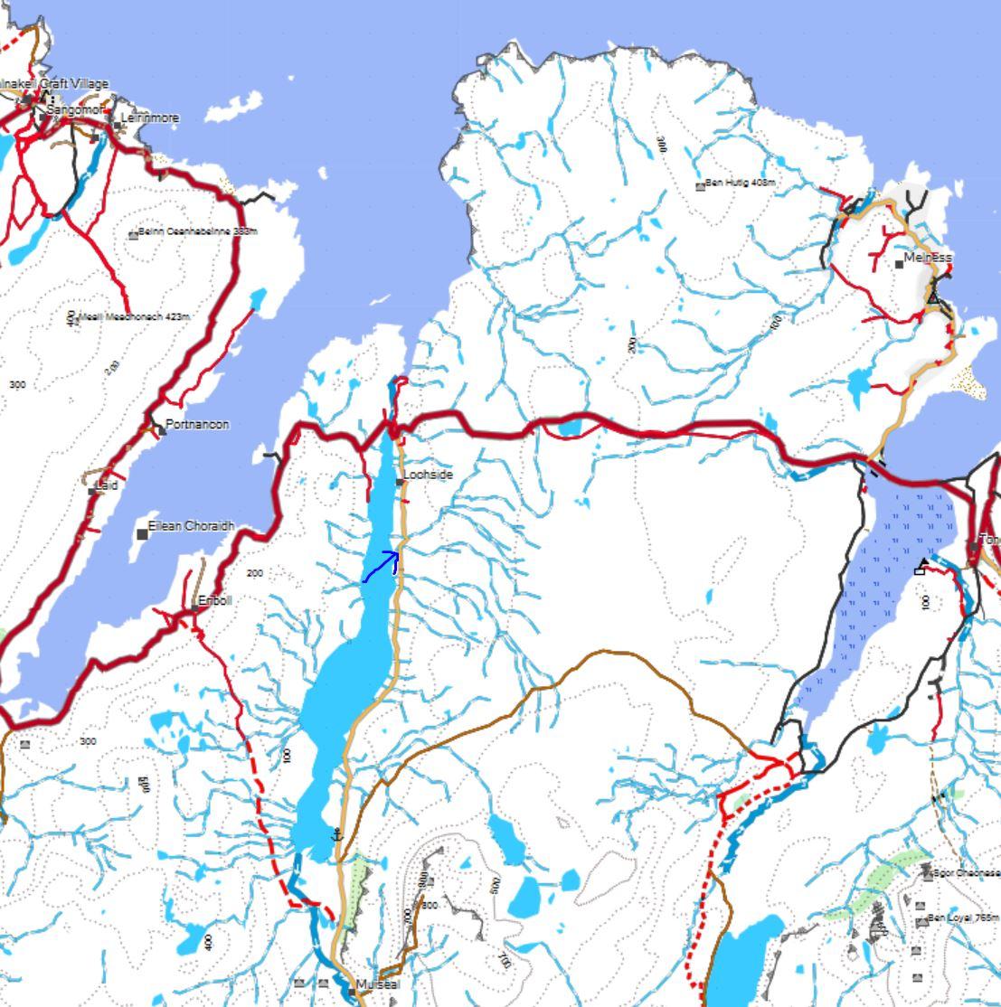 Die Karte zum Schottland Wildcamping Stellplatz Nr. 3 am Loch Lomond