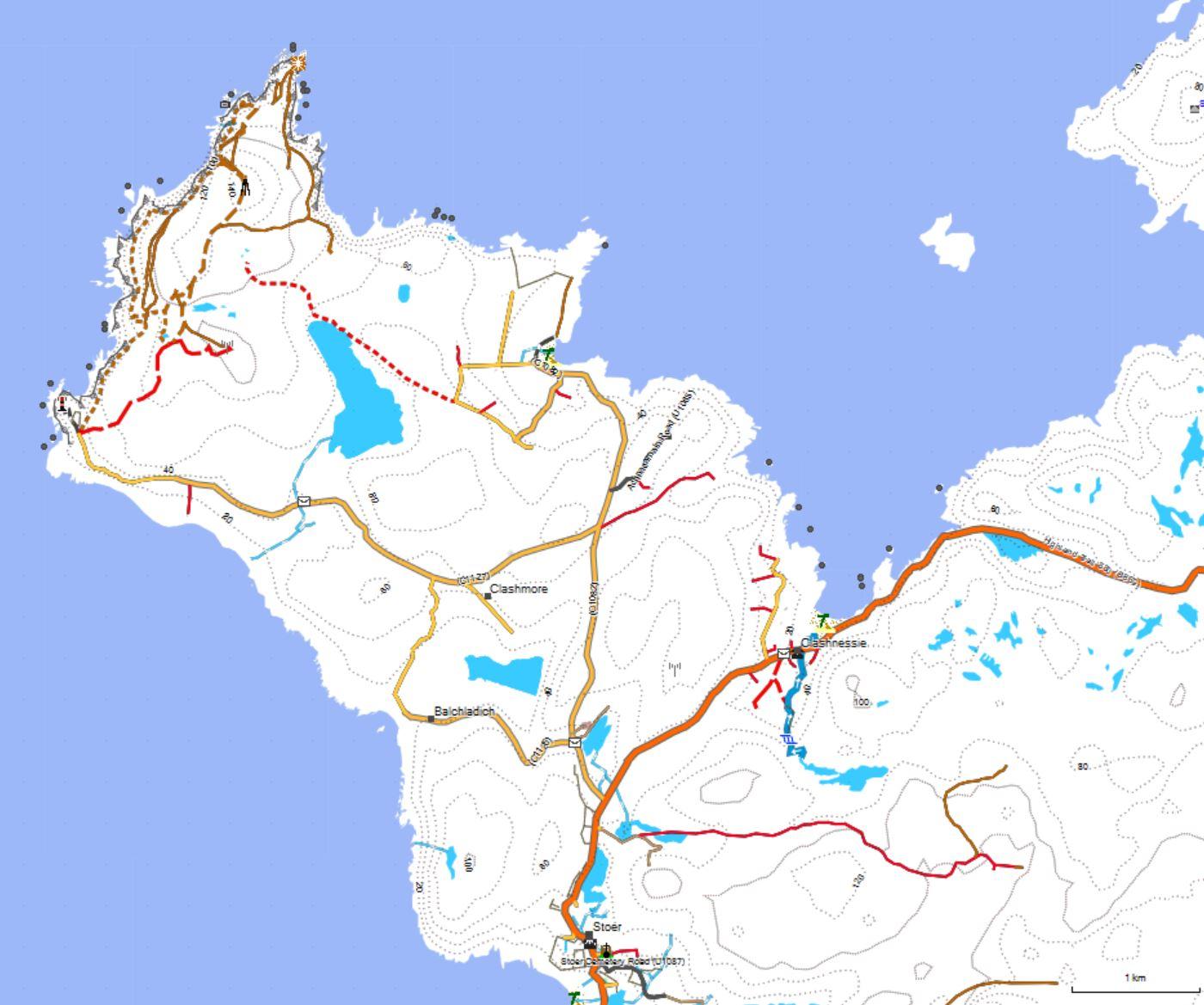 Karte vom Wildcamping Stellplatz Nr. 4 in Schottland